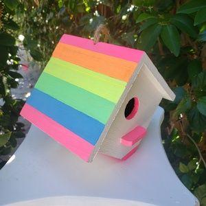 Neom Rainbow Hand Painted Birdhouse